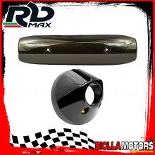 KIT PARACALORE MARMITTA YAMAHA T MAX 500 CARBURATORE 2001-2006 ANTRACITE BRONZATO (INTERASSE 200mm)