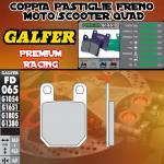 FD065G1651 PASTIGLIE FRENO GALFER PREMIUM POSTERIORI ATK 560 87-88