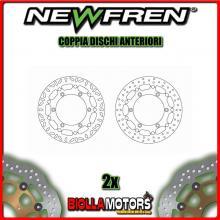 2-DF5263AF COPPIA DISCHI FRENO ANTERIORE NEWFREN TRIUMPH SPEEDMASTER 790cc (carb) 2003-2004 FLOTTANTE