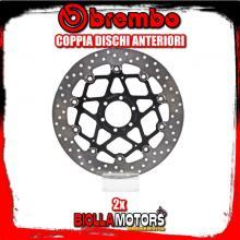 2-78B40870 COPPIA DISCHI FRENO ANTERIORE BREMBO BENELLI TNT CENTURY RACER 2011- 899CC FLOTTANTE