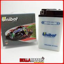 B49-6-SM BATTERIA UNIBAT B49-6 CON ACIDO B496SM MOTO SCOOTER QUAD CROSS