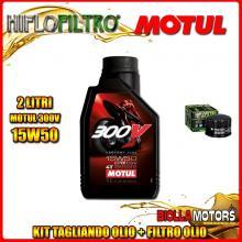 KIT TAGLIANDO 2LT OLIO MOTUL 300V 15W50 GILERA 500 Fuoco / LT 500CC 2007-2015 + FILTRO OLIO HF184