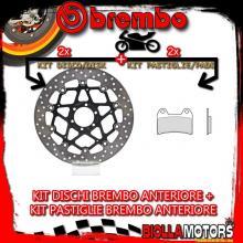 KIT-9BUC DISCO E PASTIGLIE BREMBO ANTERIORE MOTO MORINI 9 1/2 1200CC 2006- [GENUINE+FLOTTANTE] 78B40870+07BB1935