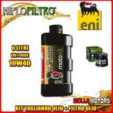 KIT TAGLIANDO 6LT OLIO ENI I-RIDE 10W40 SYNTHETIC TECH KAWASAKI VN2000 A1-A2,A6F Vulcan 2000CC 2004-2006 + FILTRO OLIO HF204