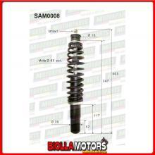 SAM0008 COPPIA AMMORTIZZATORI ANTERIORI MICROCAR CASALINI YDEA F2107000027 (MK008)