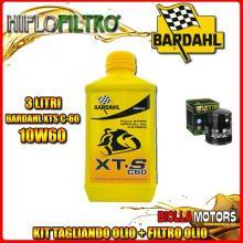 KIT TAGLIANDO 3LT OLIO BARDAHL XTS 10W60 MOTO GUZZI 1000 Daytona RS 1000CC 1997-2001 + FILTRO OLIO HF551