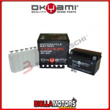 E07048 BATTERIA OKYAMI YTX7A-BS SIGILLATA CON ACIDO YTX7ABS MOTO SCOOTER QUAD CROSS