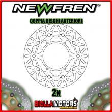 2-DF5207AF COPPIA DISCHI FRENO ANTERIORE NEWFREN YAMAHA YZ-F 750cc R7 (OW02) road version 1999-2000 FLOTTANTE