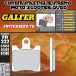 FD222G1380 PASTIGLIE FRENO GALFER SINTERIZZATE ANTERIORI DAELIM S2 125 FREEWING f.i. 08-