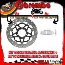 KIT-3UF9 DISCO E PASTIGLIE BREMBO ANTERIORE MV AGUSTA F3 800CC 2013- [GENUINE+FLOTTANTE] 78B40893+07BB3793