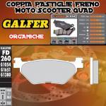 FD260G1054 PASTIGLIE FRENO GALFER ORGANICHE POSTERIORI YAMAHA XP 500 T-MAX CUP 03-