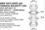 6101 SERIE STERZO MBK SKYLINER 250 YAMAHA MAJESTY 250
