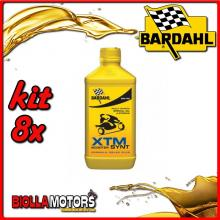 KIT 8X LITRO OLIO BARDAHL XTM SCOOTER SYNT 5W40 LUBRIFICANTE SCOOTER MOTORE 1LT - 8x363041