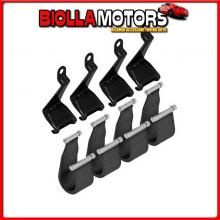 N21403 NORDRIVE FIT, KIT 4 CINGHIE PER BARRE SNAP - F-3 DACIA DUSTER (SOLO MANCORRENTE GRANDE) - RAILING (06/12>01/18)