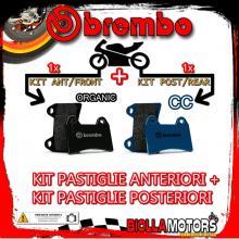 BRPADS-39785 KIT PASTIGLIE FRENO BREMBO DERBI BLACK DEVIL 2004- 50CC [ORGANIC+CC] ANT + POST