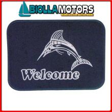 3311504 TAPPETINO WELCOME MARLIN BLUE Tappetini Welcome