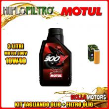 KIT TAGLIANDO 3LT OLIO MOTUL 300V 10W40 KTM 400 EXC 400CC 2008-2011 + FILTRO OLIO HF652