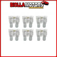 70186 LAMPA SMART LED, SET 6 FUSIBILI LAMELLARI CON SPIA A LED, 12/32V - 25A