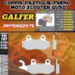 FD187G1380 PASTIGLIE FRENO GALFER SINTERIZZATE POSTERIORI SACHS 4 ROCK 250 04-