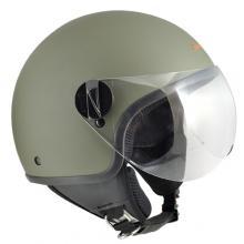 1WH-BSA-07E CASCO JET 1WH WOLLI VERDE GOMMATO TAGLIA XL