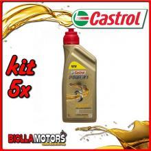 KIT 5X LITRO OLIO CASTROL POWER 1 2T - 5x CA15B64B