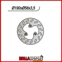 659007 DISCO FRENO ANTERIORE NG ATALA AT 18 50CC 1998 007 190/80/58/3,5//3/9,5