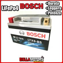 LTX9-BS BATTERIA LITIO BOSCH YTX9-BS LifePo4 0986122608 YTX9BS MOTO SCOOTER QUAD CROSS