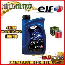 KIT TAGLIANDO 4LT OLIO ELF CITY 10W40 KAWASAKI KLX650 A1-A3,D1 (KLX650 R) 650CC 1993-1996 + FILTRO OLIO HF123