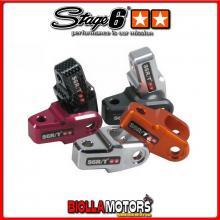 S6-SSP367/CA RIALZO AMMORTIZZATORE STAGE6 CNC STREET LEGAL, 40MM, OMOLOGATO, CARBONIO MINARELLI / KYMCO / PEUGEOT
