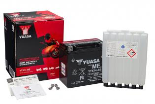 638733 BATTERIA PIAGGIO YUASA YTX14-BS SIGILLATA CON ACIDO YTX14BS MOTO SCOOTER QUAD CROSS