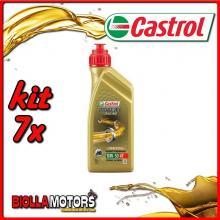 KIT 7X LITRO OLIO CASTROL POWER 1 RACING 4T 10W50 - 7x CA14E94F