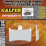 FD178G1375 PASTIGLIE FRENO GALFER SINTERIZZATE ANTERIORI YAMAHA XP 500 T-MAX ABS 08-