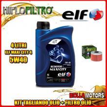 KIT TAGLIANDO 4LT OLIO ELF MAXI CITY 5W40 KAWASAKI KFX450R KSF450 450CC 2008-2009 + FILTRO OLIO HF112