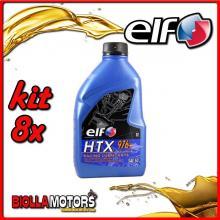 KIT 8X LITRO OLIO ELF HTX 976 +/plus 2T MISCELA - 8x 187005