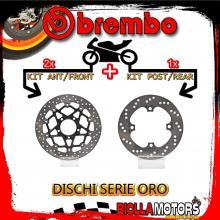 BRDISC-4595 KIT DISCHI FRENO BREMBO TRIUMPH DAYTONA T955I 2002-2006 955CC [ANTERIORE+POSTERIORE] [FLOTTANTE/FISSO]