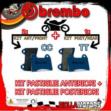 BRPADS-1804 KIT PASTIGLIE FRENO BREMBO HONDA XR R 2000- 650CC [CC+TT] ANT + POST