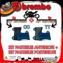 BRPADS-2033 KIT PASTIGLIE FRENO BREMBO KTM DUKE 2013-2014 390CC [CC+TT] ANT + POST