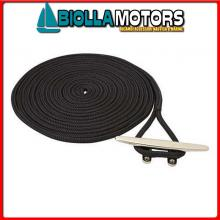 3101455 DOCK LINE BLACK 16MM X 10M< Treccia Mooring Nero con Gassa
