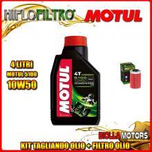 KIT TAGLIANDO 4LT OLIO MOTUL 5100 10W50 KTM 640 Duke 1st Oil Filter 640CC 1999-2006 + FILTRO OLIO HF155