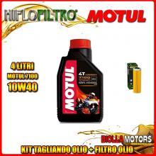 KIT TAGLIANDO 4LT OLIO MOTUL 7100 10W40 KTM 1050 Adventure 1050CC 2015-2016 + FILTRO OLIO HF650