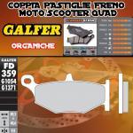 FD359G1054 PASTIGLIE FRENO GALFER ORGANICHE POSTERIORI SUZUKI GSX 1300 R HAYABUSA 08-