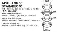 6023 SERIE STERZO APRILIA SR 50 SCARABEO 50 tutti i modelli