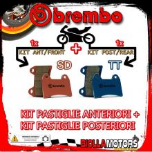 BRPADS-6470 KIT PASTIGLIE FRENO BREMBO CCM RS 2001- 600CC [SD+TT] ANT + POST
