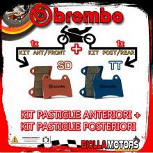 BRPADS-6552 KIT PASTIGLIE FRENO BREMBO HIGHLAND MX 2006- 450CC [SD+TT] ANT + POST