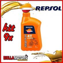 KIT 9X LITRO OLIO REPSOL MOTO RIDER 4T 10W40 1LT - 9x REPSOL29