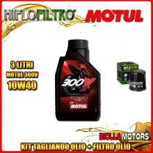 KIT TAGLIANDO 3LT OLIO MOTUL 300V 10W40 KTM 400 EGS 2nd Oil 400CC - + FILTRO OLIO HF156