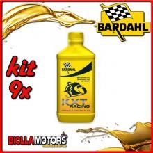 KIT 9X LITRO OLIO BARDAHL KXT RACING LUBRIFICANTE PER MOTO 2T 1LT - 9x 221039