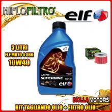 KIT TAGLIANDO 5LT OLIO ELF MOTO 4 SBK 10W40 HONDA TRX650 FA Fourtrax Rincon 650CC 2003-2005 + FILTRO OLIO HF111