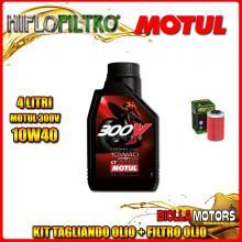 KIT TAGLIANDO 4LT OLIO MOTUL 300V 10W40 KTM 640 Duke 1st Oil Filter 640CC 1999-2006 + FILTRO OLIO HF155