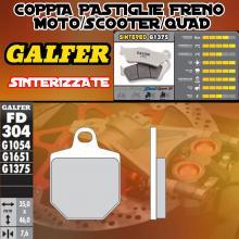 FD304G1375 PASTIGLIE FRENO GALFER SINTERIZZATE ANTERIORI MAGURA 4 PADS CALIPER SM 07-